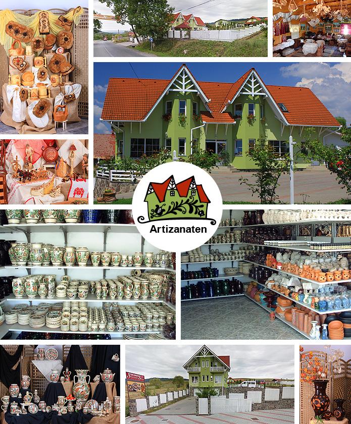 Depozitul nostru en-gros de produse artizanale și obiecte de artă populară situat în Corund, str. Principală nr. 1492.
